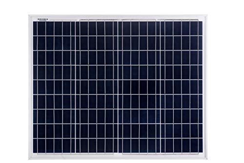 Módulo fotovoltaico fotovoltaico de panel solar policristalino Betop-camp 50W 12V para caravana, autocaravana, autocaravana, barco o yate     Especificaciones:   - Potencia nominal Pmpp (W): 50  - Voltaje de potencia máx. Vmpp (V): 18.2  - Corriente...