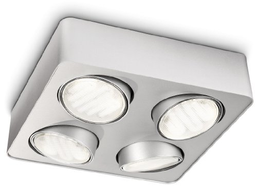 Philips Ecomoods 4 Plate Spotlight, 8 W - Aluminium