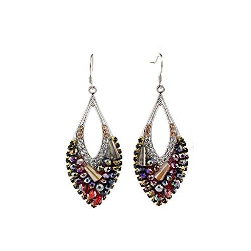 CKH S925 Silber Haken Ohrringe Feminine Ohrringe Damen Kostüm Mode Frauen Europa Und Amerika Nationalen Wind ()