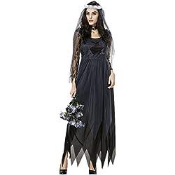 Disfraz de Novia Zombie Mujer Cosplay Traje de novia Cadaver Ropa de boda