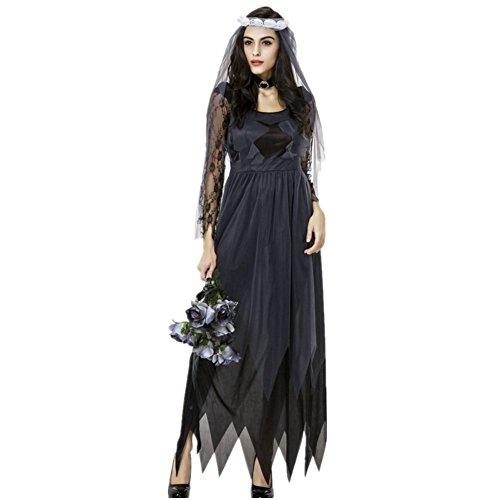 Imagen de disfraz de novia zombie mujer cosplay traje de novia cadaver ropa de boda