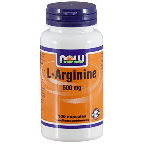 L-Arginine 500 mg (100 capsules) - Now Foods