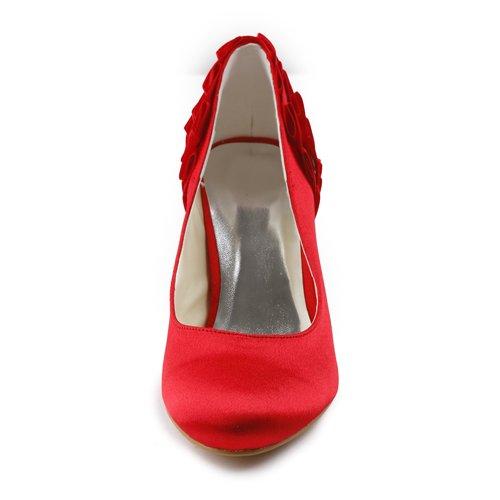 Jia Jia Wedding A31B32A chaussures de mariée mariage Escarpins pour femme Rouge