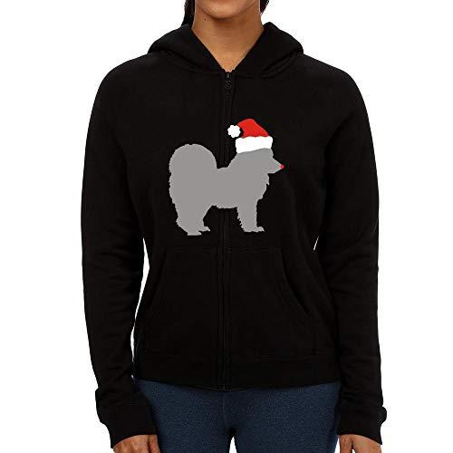 Idakoos Alaskan Klee Kai Christmas Damen Kapuzenjacke M Klee Zip Hoodie