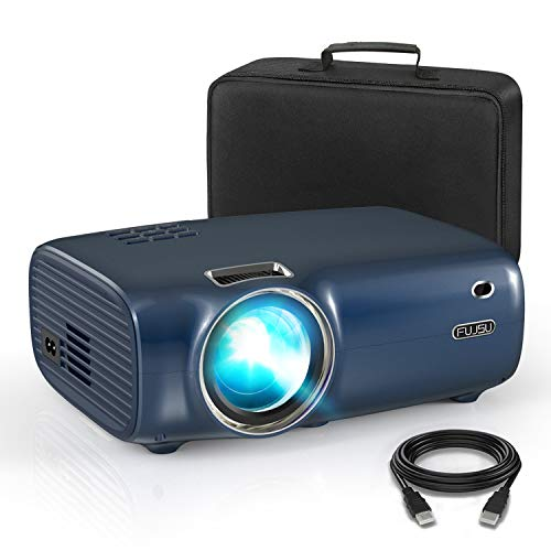 Mini Beamer für Heimkino 1080P Full HD unterstützt , Video Projektor mit Tragetasche 4000 Lumen LED 50000 Stunden Fußball Spiel Spaß Kompatibel mit HDMI/VGA/USB/AV Multimedia