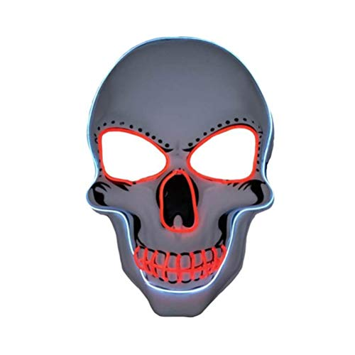 Party Transformers Kostüm - WINBST LED-Maske Leuchtende Monstermaske soundaktive Maske Gruselmaske Faschingsmaske Karneval DJ Party Festival Halloween Kostüm