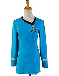 Star Trek The Female Duty Uniforme Robe Bleue Costume