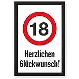 DankeDir! 18 Jahre Herzlichen Glückwunsch, Kunststoff Schild - Geschenk 18. Geburtstag, Geschenkidee Geburtstagsgeschenk Achtzehnten, Geburtstagsdeko/Partydeko / Party Zubehör/Geburtstagskarte