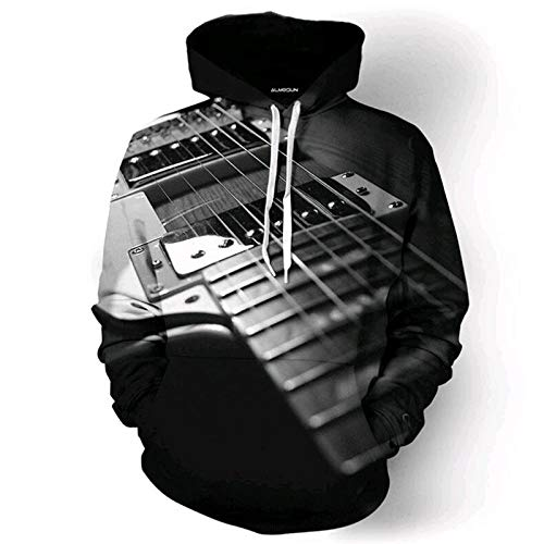 Leon's shop Sudadera 3D,Uniforme de béisbol de impresión Digital Pareja con Guitarra...
