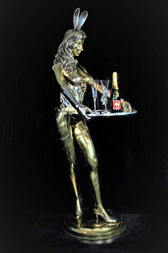 FINE ARTS Wohnkultur Skulptur Bronze Playboy Bunny Erotik Lebensgroße Liebe Akt Figur Statue Deko Bunny Waitress