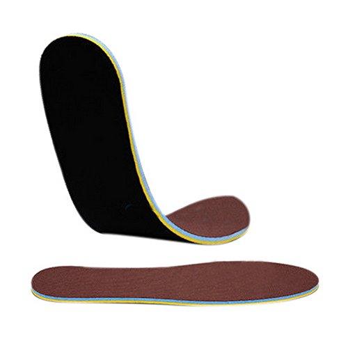 6 Packung Unisex Sport Athletic Schuhe Einlegesohlen Lügen Füße Schmerzen Auflage Schwarz und Braun (Schwarz Athletic Schuhe Arbeiten)
