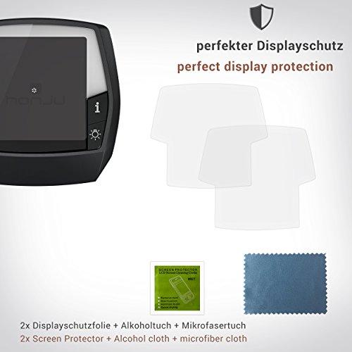 honju BIKE Anti-Reflex Displayschutzfolie 61113 für Bosch Intuvia eBike Display (2 Stk, Made in Germany, 100% passgenau, verbesserte Lesbarkeit, hält ohne Kleber, gegen Kratzer & Schmutz)