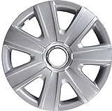 AUTOFORNITURE ITALIA Set 4 COPRICERCHI 14' Pollici con Logo Compatibile con Volkswagen Polo 2008