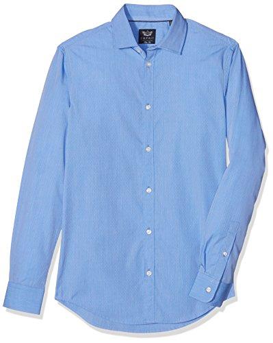ESPRIT Collection 126EO2F004, Camicia formale Uomo, Blu (Blue), Misura Collo: 41 cm (Taglia Produttore: 41 cm)