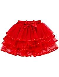 71d09472bc3 storeofbaby Petites Grandes Filles Tulle Tutu Jupe 4 Couches Jupe de fête  habillée ...