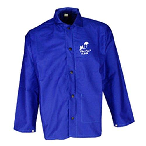 Sharplace Kurz Schweißer Schweißen Jacke Schutzkleidung Bekleidung Anzug Schweißerschutzjacke Schweißerjacke M Blau (Kleidung Feuerhemmende)