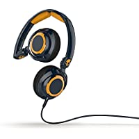 Skullcandy Lowrider On-Ear Audio Headphones with Microphone - Navy/Gold
