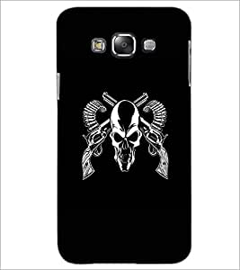 PrintDhaba Skull D-1187 Back Case Cover for SAMSUNG GALAXY A8 (Multi-Coloured)