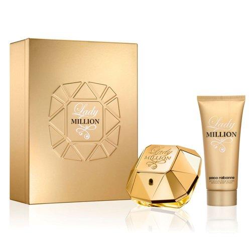 Paco Rabanne LADY MILLION Gift Set : 50ml EDP Spray, 100ml Body Lotion -