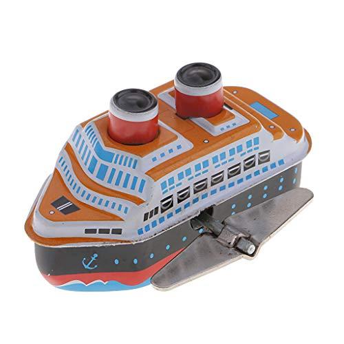 Homyl Lustiges Retro Wind up Zinn Spielzeug Kreuzfahrtschiff Mini Vessel Tin Toy Für Kinder Geschenk - a - Wind-up Zinn Spielzeug