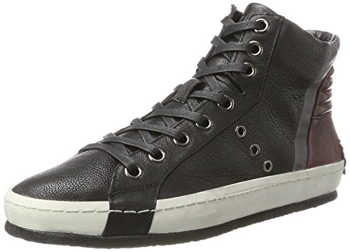 Crime London 11210a17b, Sneaker a Collo Alto Uomo Nero (Schwarz)