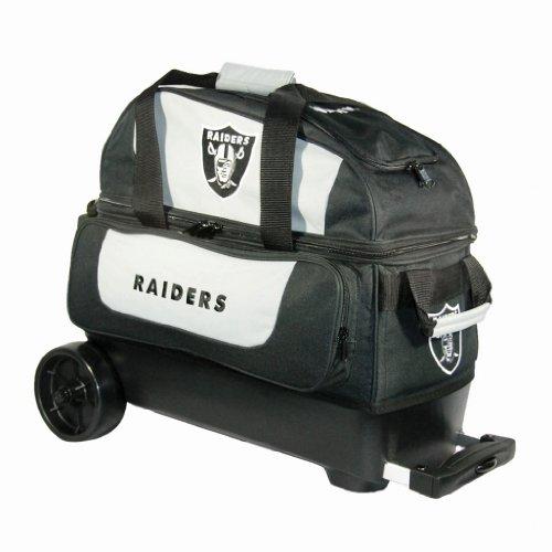 (KR Strikeforce Bowling NFL Double Roller Bowling Bag (Oakland Raiders))