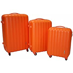 ravizzoni - Juego de maletas Naranja ARANCIONE