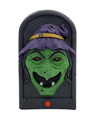 Türklingel Hexe mit Light & Sound als Halloween Gruseleffekt!
