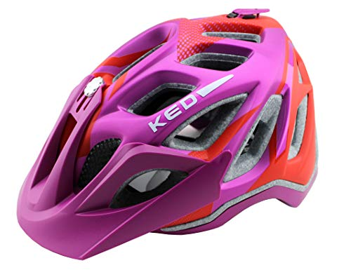 K-E-D KED Fahrradhelm Trailon, Größe M, Kopfumfang 52-58 cm, Violet Red Matt, Extrem gut belüfteter All-Mountain Helm in robuster maxSHELL®- Technologie - Made in Germany