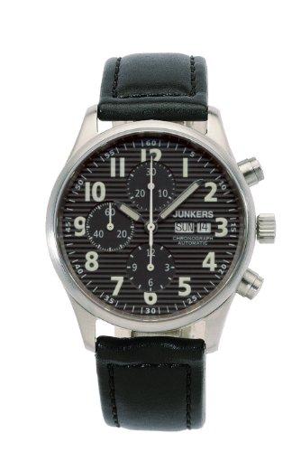 Junkers 6218-2 - Orologio da polso da uomo, cinturino in pelle colore nero