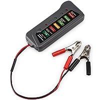 Winbang - Comprobador alternador de batería, 12 V para Coche, Motocicleta, LED, Digital, probador de batería – Prueba de Estado de la batería
