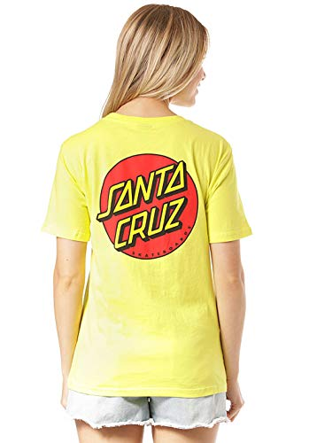 Santa Cruz Classic Dot W T-Shirt Limeade - Dot Herren T-shirt