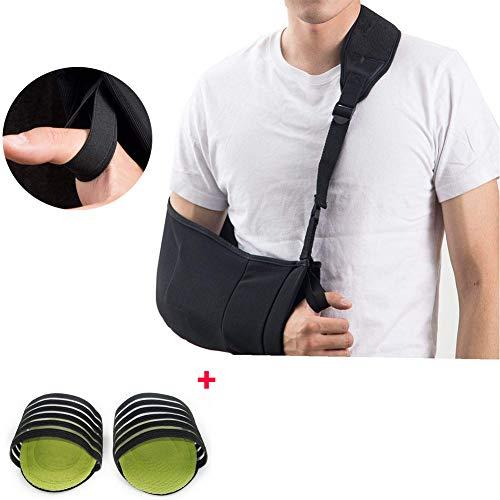 ZZYYZZ Armschlinge, Arm Schulter Sling Arm Immobilizer Handschlaufe Medizinische Gepolstert mit Hüftgurt für Ellenbogen für Damen und Herren -