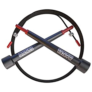 PRIME DEAL - Skipping Rope to Master Double Unders and Cross Fitness Training - With Bonus Workout Ebook - Carry Case - Outdoor Cable Protector & Screw Kit
