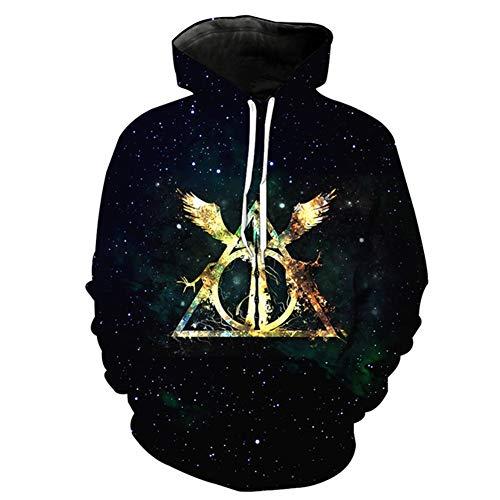 XJXDWY 3D Sport Hoodie Lässige Pullover Unisex Bewegung Phantasie Kostüm Digitaldruck Harry Potter XXXL