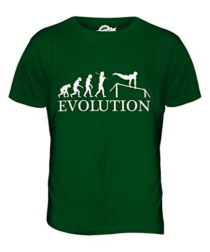 CandyMix Sbarra Ginnastica Evoluzione Umana T-Shirt da Uomo Maglietta Verde bottiglia