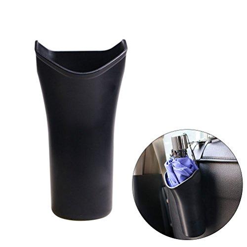 Preisvergleich Produktbild WINOMO Multifunktions-Auto-Sitz-Rückseiten-Regenschirm-Aufbewahrungs-Eimer-Mini-Cup-geformter Abfalleimer-Abfall-Abfalleimer-Abfall-Halter-Kasten-Schwarzes