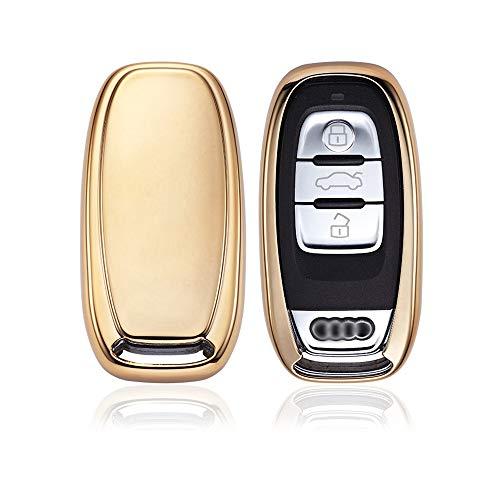 KAKTUS Autoschlüssel Schutzhülle für Audi 3 Tasten Schlüssel (Keyless Version)