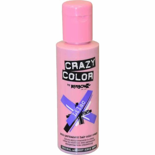 Renbow Crazy Color Semi-Permanent Hair Color Dye lilac 55-100 ml, 1er pack (1 x 115 g) (Bama Bug)