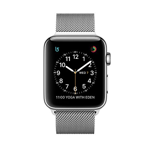 Apple Series 2 42 mm Stainless Steel Case Smartwatch with Milanese Loop – Silver
