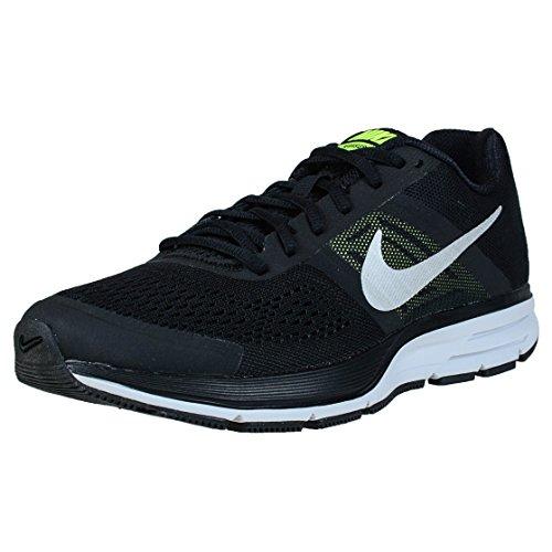 Nike Herren Laufschuhe, 10,5 UK/ 29,5 cm Schwarz / Silber / Gr眉n (Schwarz / Metallic Silber-Volt)