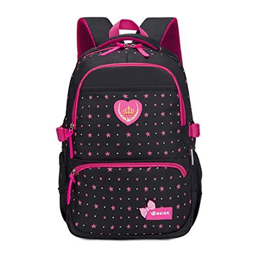 Star Printing Children Backpacks for Teenagers Girls Lightweight Waterproof School Bags Child Orthopedics Schoolbags Black