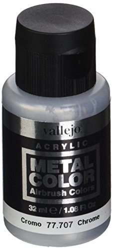 acrylicos Vallejo (32ml Metall Farbe-Chrom