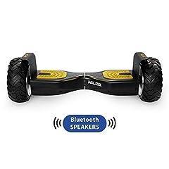 Idea Regalo - Nilox Doc Self Balance Scooter Elettrico Off Road Plus con Certificazione UL 2272, connessione Bluetooth, Nero