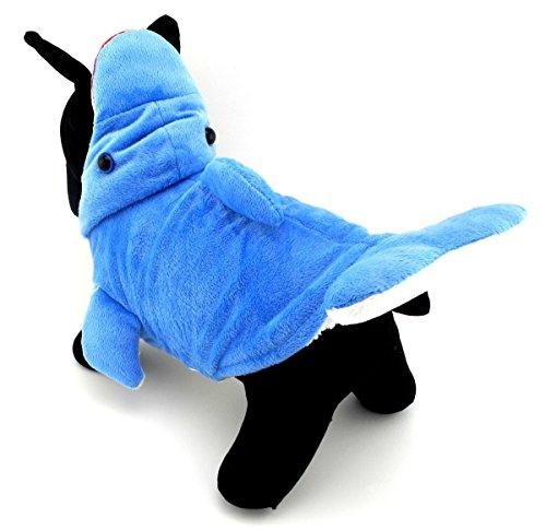 üm für Kleine Hunde Dolphin Puppy Kleidung Winter Warm Fleece Hoodie Coat Pet Cat Apparel für Weihnachten Urlaub Party Cosplay Besondere Anlässe Kleid bis ()