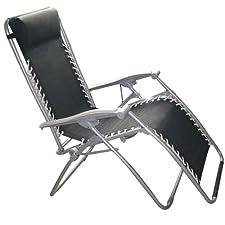 Kingfisher Reclining Zero Gravity Sun Chair Lounger – Twin Pack