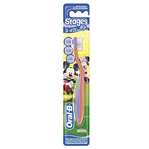 Oral-B Stages 2 - Cepillo de dientes para niños de 2 a 4 años