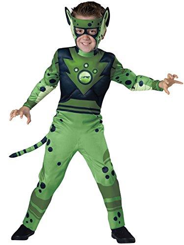 tts Green Cheetah Boys Muscle Chest Costume S (Fast Boy Kostüme)