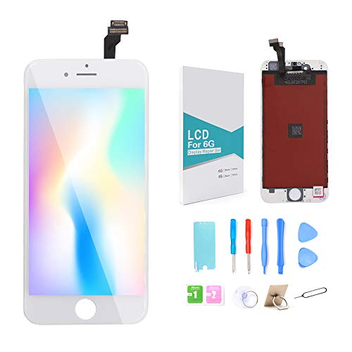 GLOBALGOLDEN Reemplazo Pantalla iPhone 6 Blanco,4.7