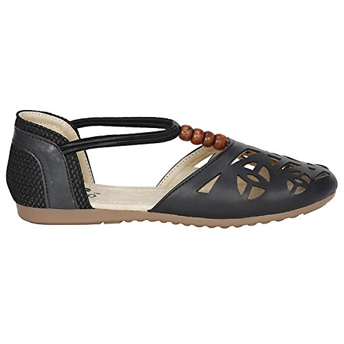 VAGON Misto Women and Girls Party WEAR Casual and Formal Fashion Sandal Slipper/Belly VJ1111 (41, Balck)